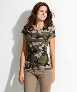 Camiseta Camo Camuflaje Barata